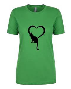 Ladies T-Shirt- Cat Heart