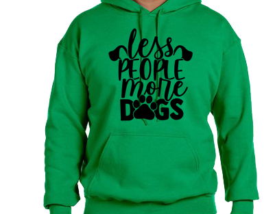 Unisex Hoodie- Less People More Dogs