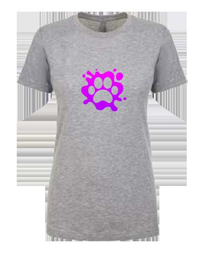 Ladies T-Shirt- Paw Splatter