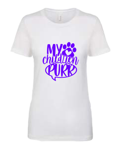 Ladies T-Shirt- My Children Purr