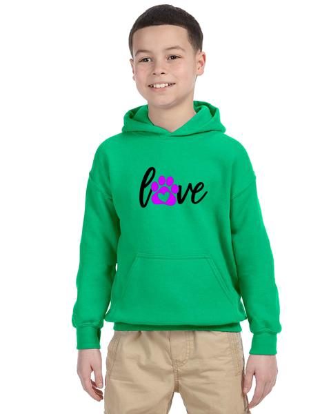 Kids Hoodie- Love Paw