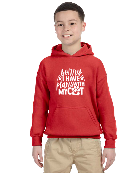 Kids Hoodie- Plans With Cat