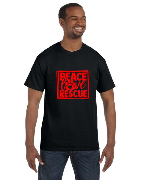 Unisex Gildan T-shirt- Peace Love Rescue