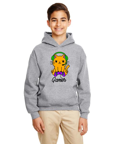 Kids Hoodie- Gamer Cat