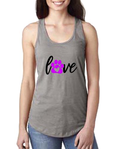 Ladies Tank- Love & Paw