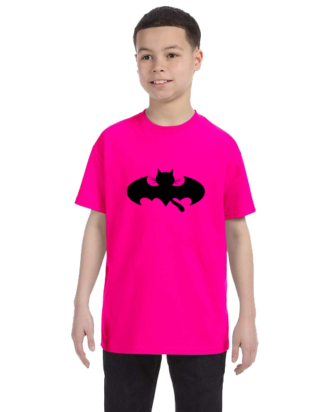 Kids Unisex Tee- Bat Cat