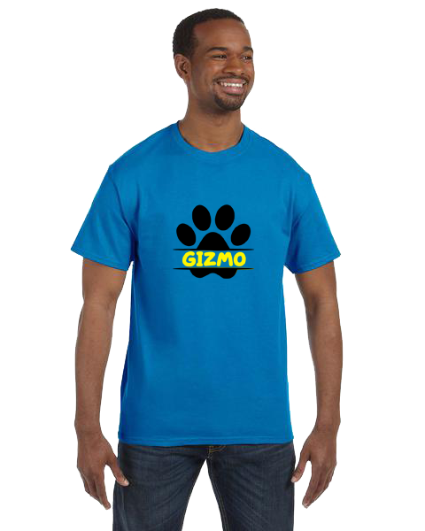 Unisex Gildan T-shirt- Dog Paw Name