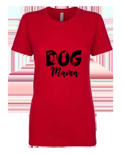 Ladies T-Shirt- Dog Mom Cutout Dogs