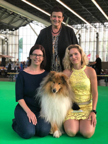 Midas with his breeders in Amsterdam 2018