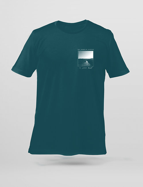 "T-Shirt ""In Your Head"" teal"