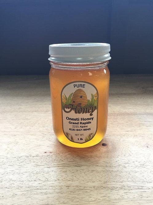 1 Pound Glass Honey Jar