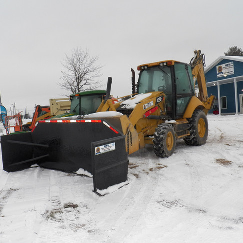 CAT 420F Backhoe w/Snow Bucket