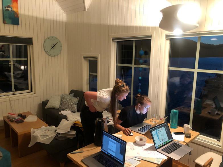 Pop-up kontor i et sjøhus på Bømlo