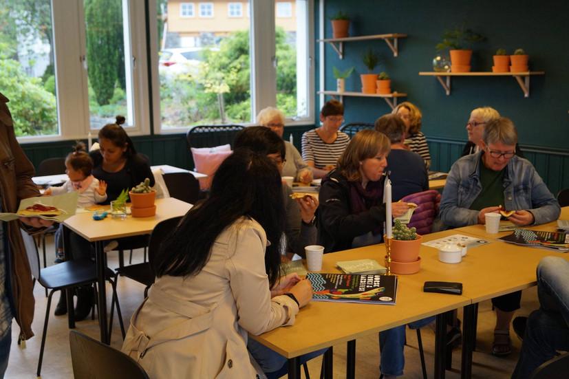 Det grønne rommet. Rommet er designet av oss og er en del av oppdrag for Hjelmeland Kommune