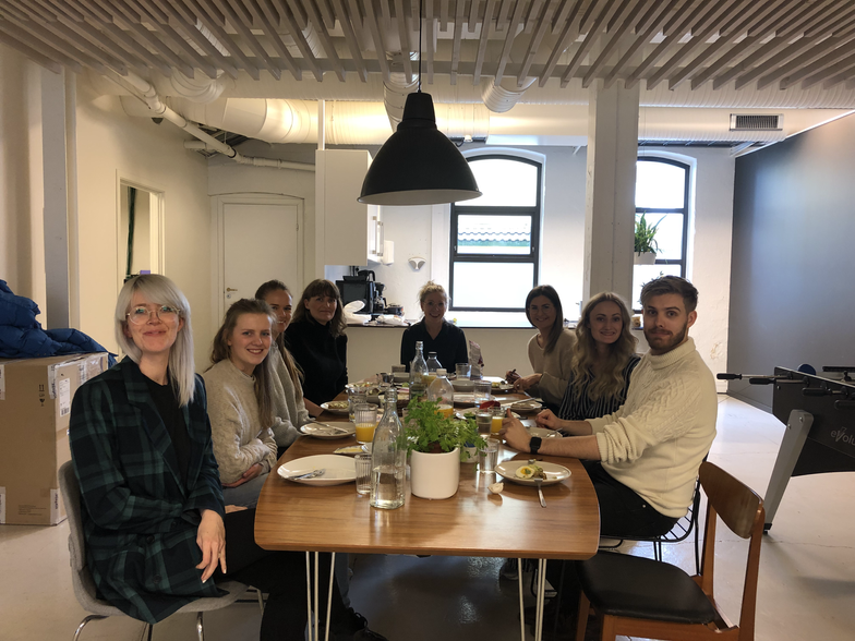 Felles lunsj på Stavanger-kontoret