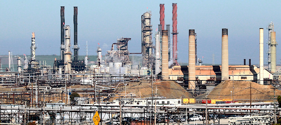 Chevron refinery in Richmond, Calif.