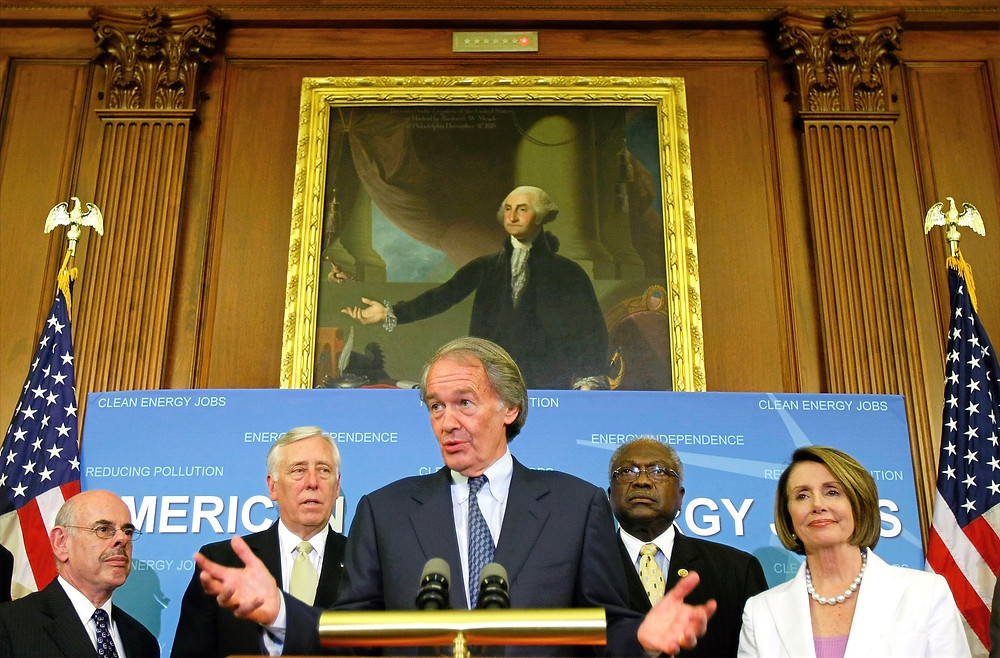 The House passed Rep. Ed Markey's 2009 clean energy bill, but the Senate didn't.. (Credit: Alex Wong/Getty)