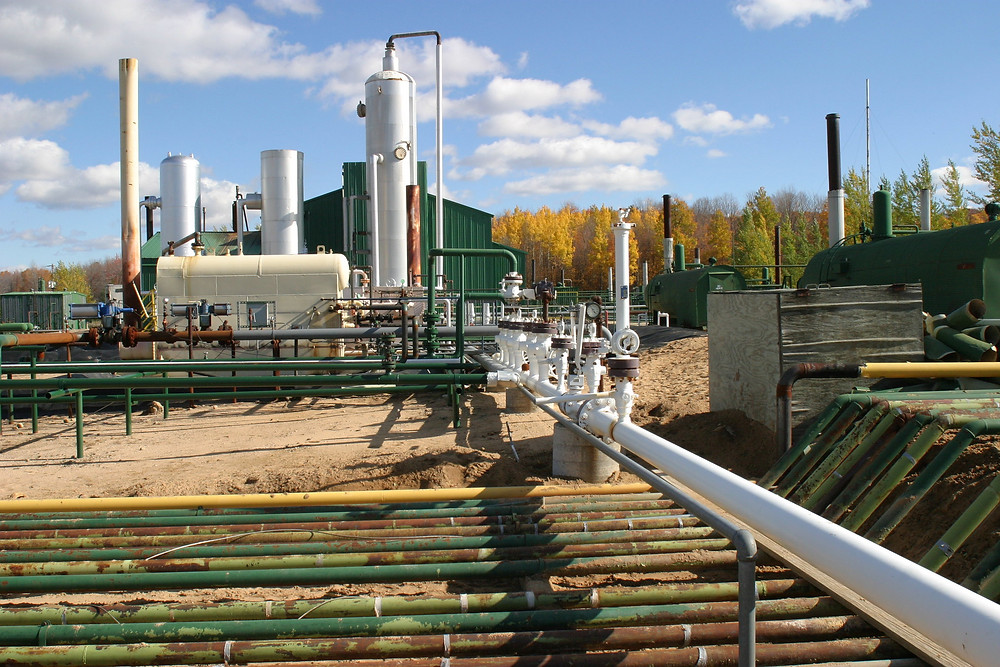 An enhanced oil recovery/carbon capture and storage demonstration project in Gaylord, Michigan. (Photo: DOE U.S. Department of Energy, National Energy Technology Laboratory)