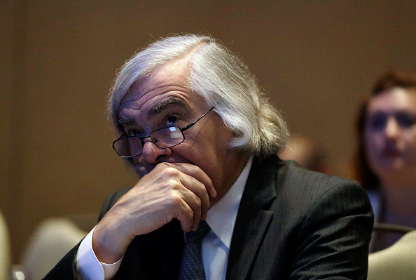 Former U.S. Sec. of Energy Ernest Moniz listens during the National Clean Energy Summit 9.0 on October 13, 2017 in Las Vegas, Nevada. (Photo by Isaac Brekken/Getty Images for National Clean Energy Summit)
