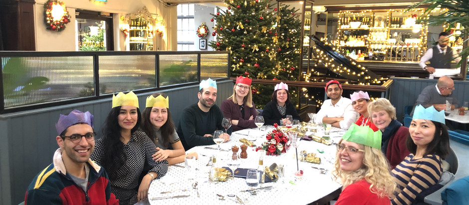 Christmas lunch with the lab