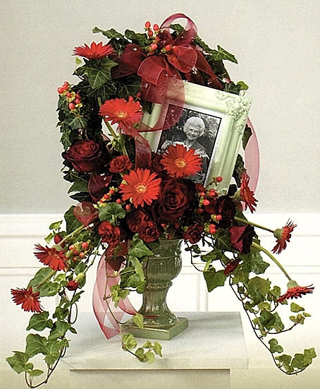 Frame Tribute Wreath in Urn
