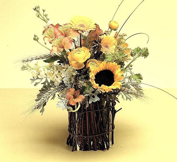 Twig-Covered Vase Arrangement