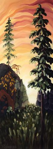 """Mount Boucherie At Dusk"""
