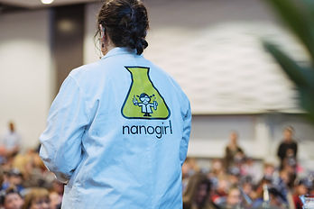 Nanogirl teaching germs and hand washing