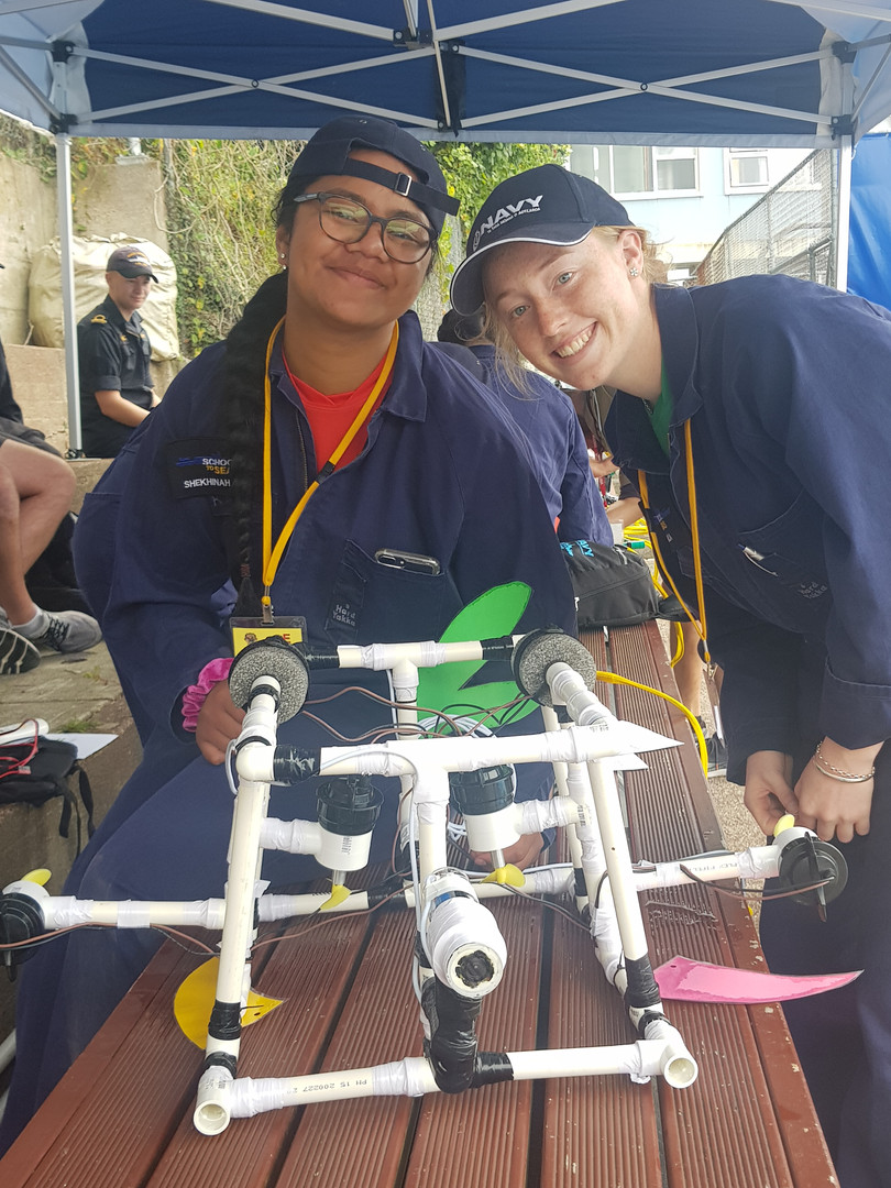 School to Seas ROV Challenge participants with their underwater robot