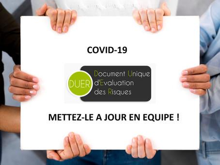 Covid-19 : l'occasion de mettre à jour votre Document Unique d'Évaluation des Risques