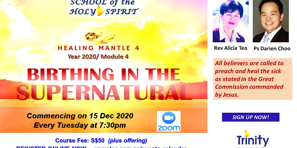 School of the Holy Spirit :  BIRTHING IN THE SUPERNATURAL