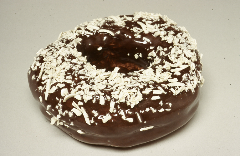 Chocolate Donut with Coconut