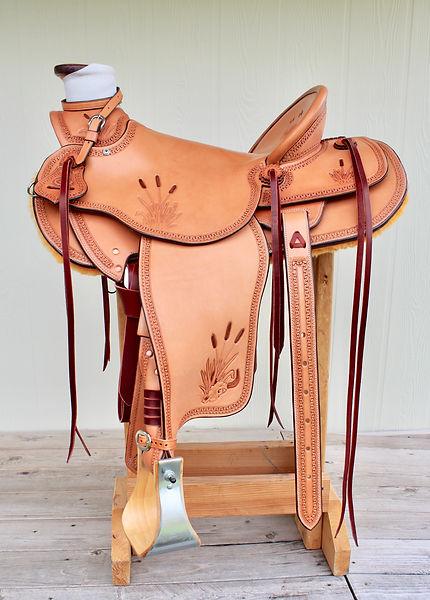 Cattails n Cattle Skulls Wade Saddle