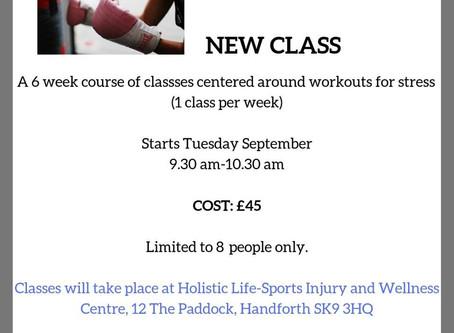 New De stress fitness class