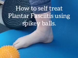 How to treat Plantar Fasciitis using spiky balls