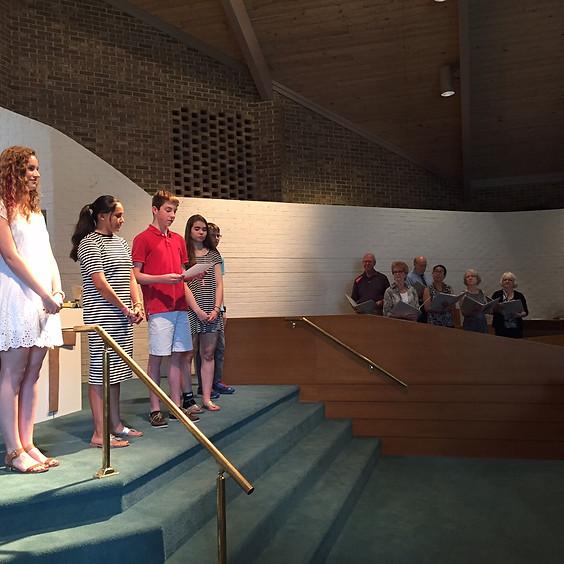 Re-gathering Service and Graduate Celebration!