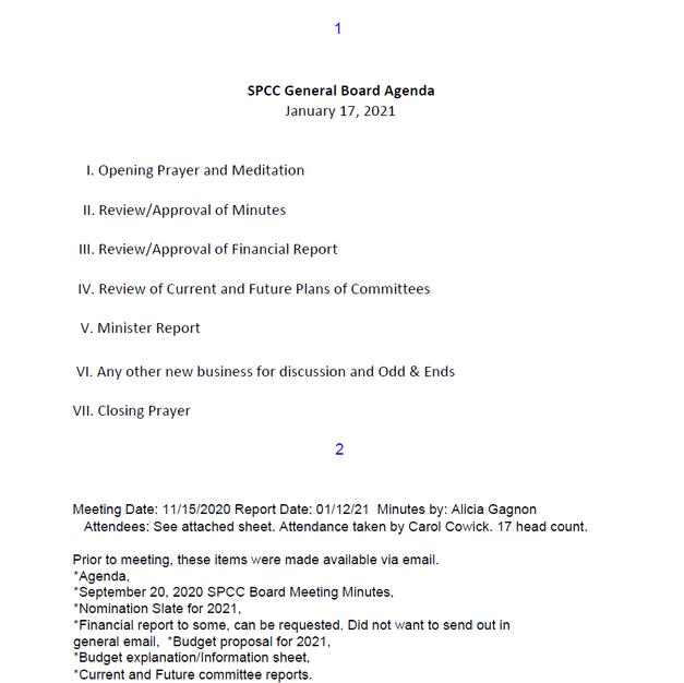 General Board Meeting 2021