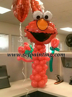 elmo with roses