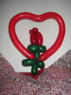 heart w/ rose