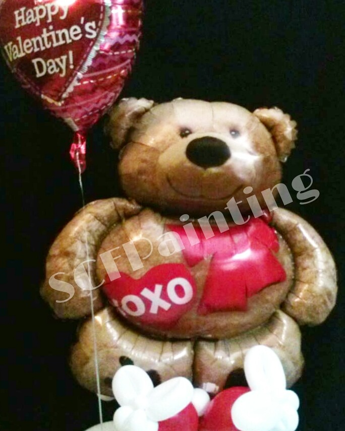 xoxo teddy bear bouquet