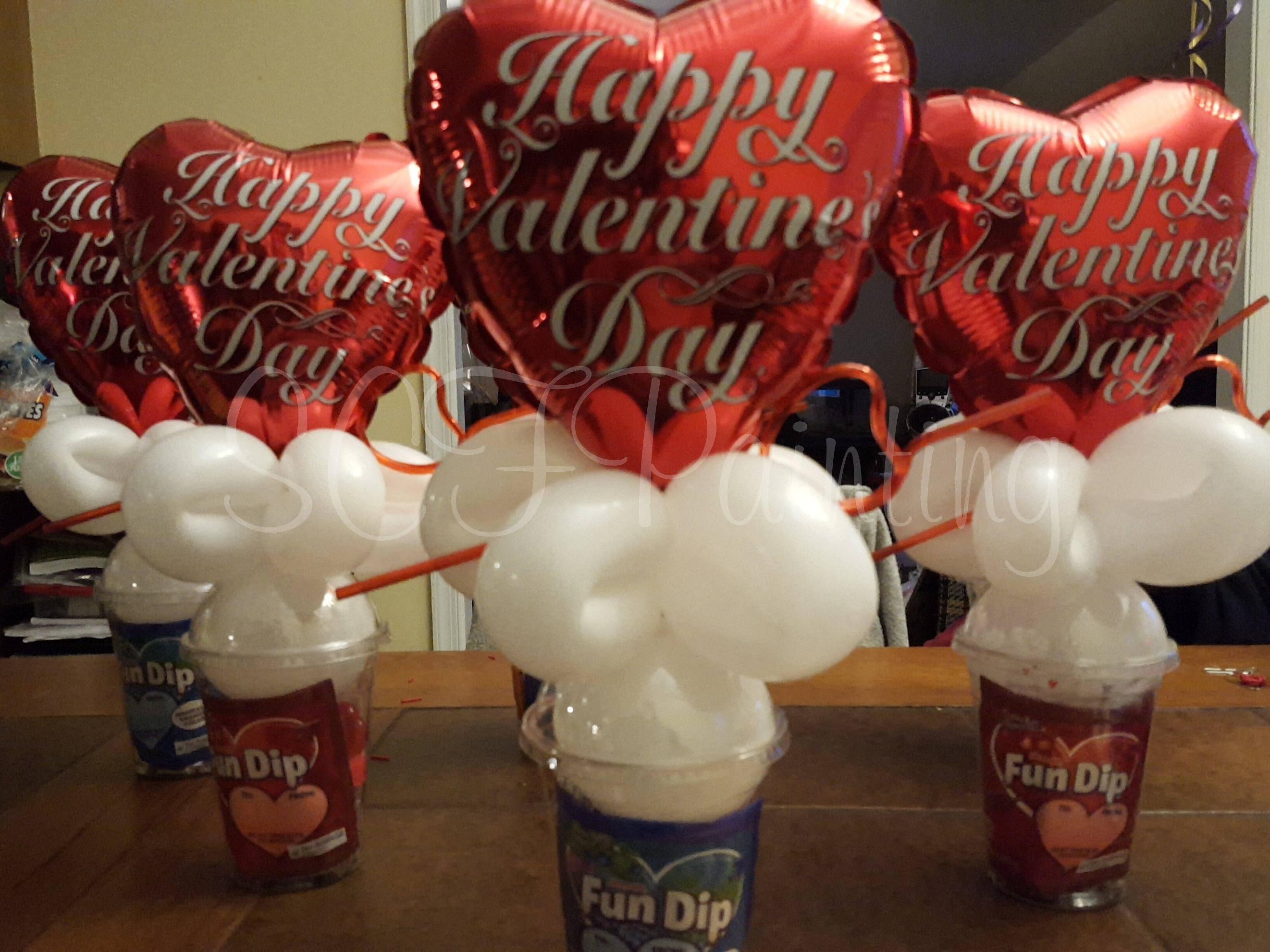 vday candy cups