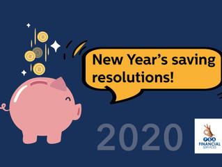 New Year's saving resolutions