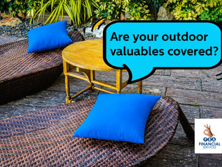 Are your valuables covered by your household insurance if they are in open areas?