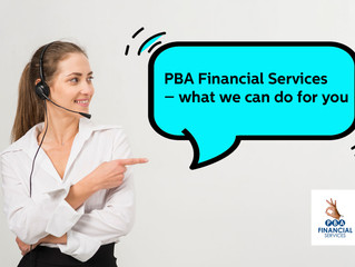 PBA Financial Services - what we can do for you.