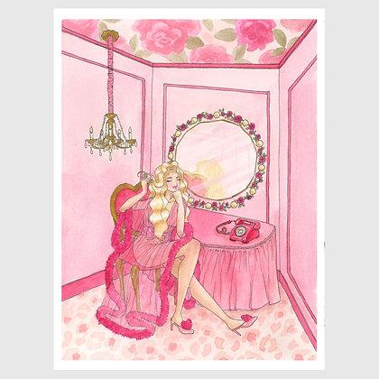 "Art print: ""Kitsch Hotel: Pink Glamour Suite"" 8""x10"""