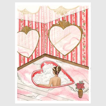 "Art print: ""Kitsch Hotel: Red Honeymoon Suite"" 8""x10"""