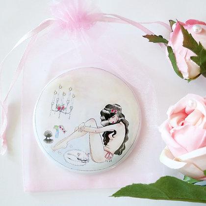 """Limited Edition """"Iridescette"""" Swarovski-Embellished Hand Mirror"""