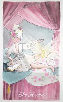 pastel prism tarot: the hermit