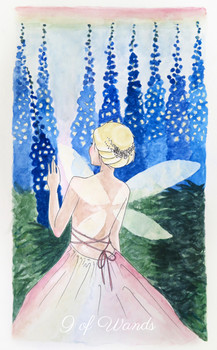 pastel prism tarot: nine of wands