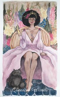 pastel prism tarot: queen of wands